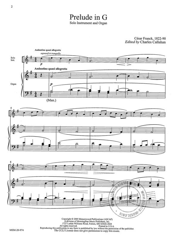Music for Organ and Solo Instrument 1 (2)
