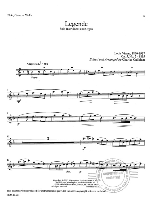 Music for Organ and Solo Instrument 1 (4)