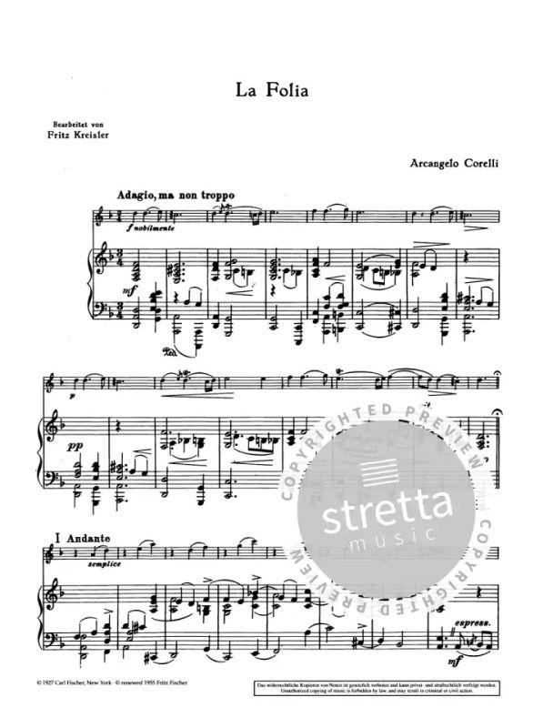La Folia Corelli Arcangelo violin and piano 9790001107266