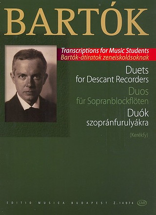 Béla Bartók: Duets for descant recorders