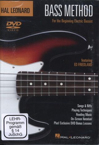 Ed Friedland: Hal Leonard Bass Method Dvd