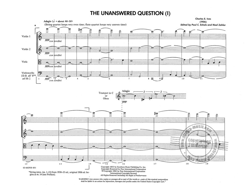 Charles Ives: The Unanswered Question (1)