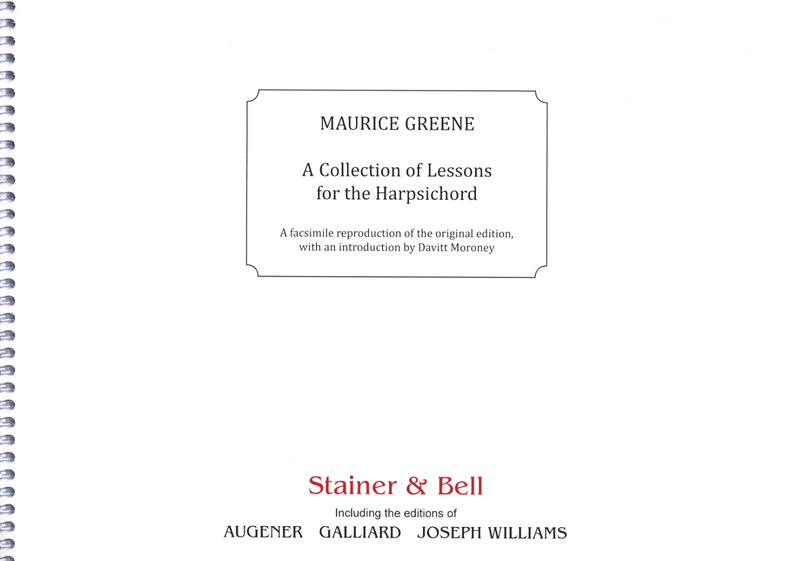 Maurice Greene: A Collection of Lessons for the Harpsichord