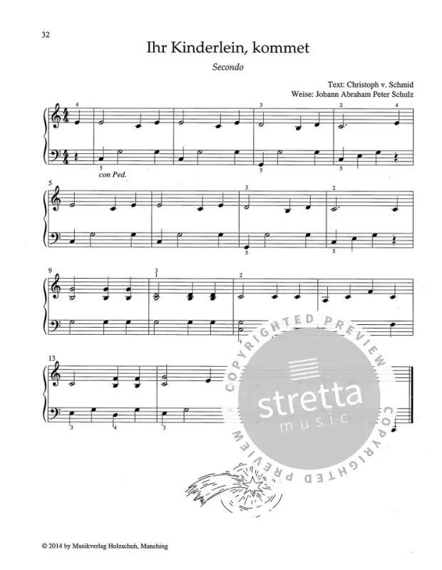 Noten Weihnachtslieder Klavier.Vierhandige Weihnachtslieder Von Anne Terzibaschitsch Im