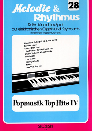 Willi Nagel: Melodie & Rhythmus, Heft 28: Popmusik Top Hits 4
