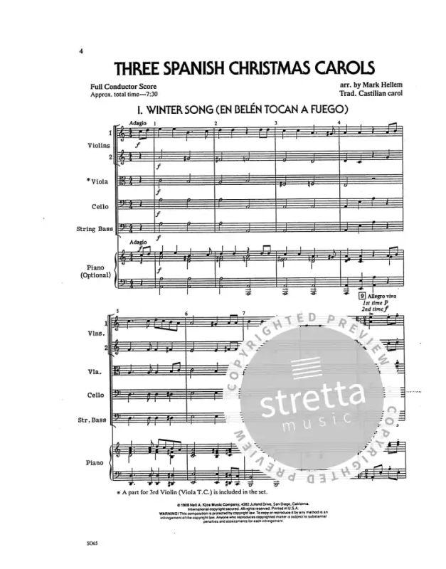 3 Spanish Christmas Carols from Hellem