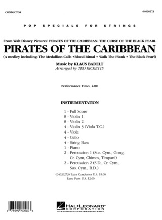 Klaus Badelt: Pirates of the Caribbean – Medley