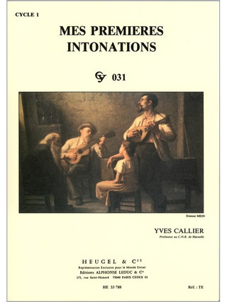 Yves Callier: Mes premières intonations