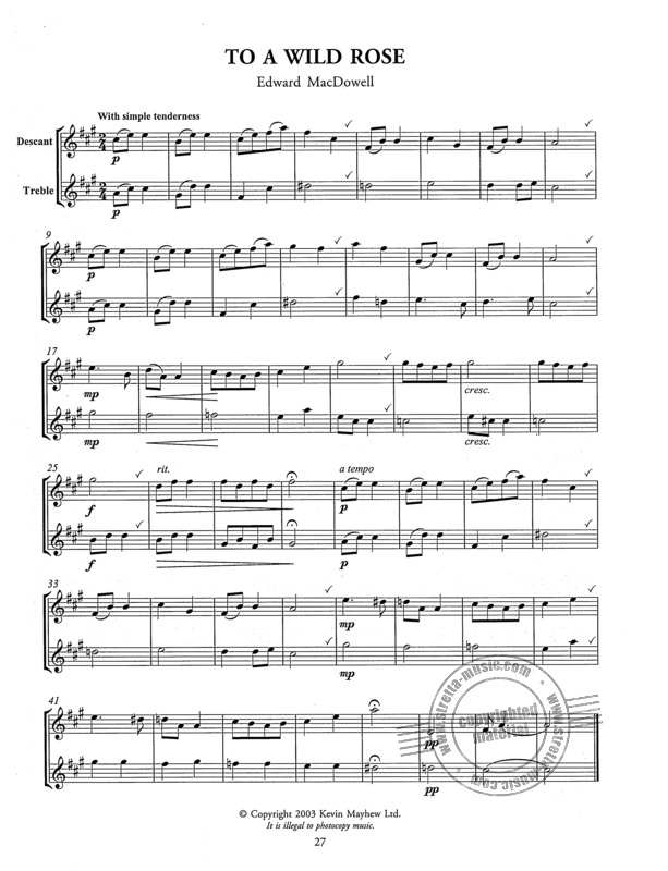 Tunes For Two - Easy To Play Duets For Descant And Treble Recorde (3)