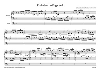 Johann Gottfried Walther: Preludio con Fuga in d