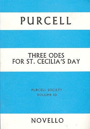 Henry Purcell: Purcell, H 3 Odes For St Cecilia's Day Pursoc 10 F/S