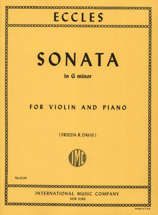 Henry Eccles: Sonate in g-Moll