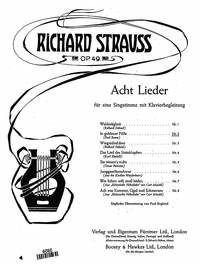Richard Strauss: Acht Lieder As-Dur op. 49/2 (1901)