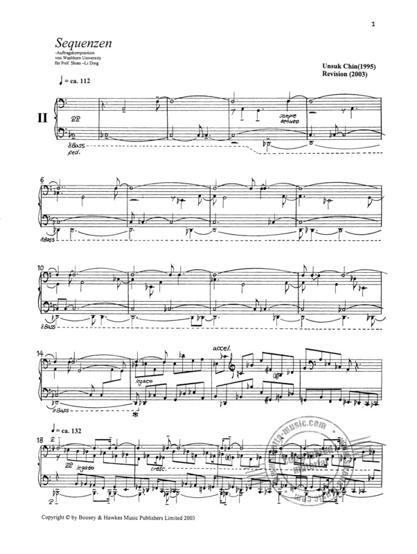 "Unsuk Chin: Piano Etude Nr. 2 ""Sequenzen"" (1)"