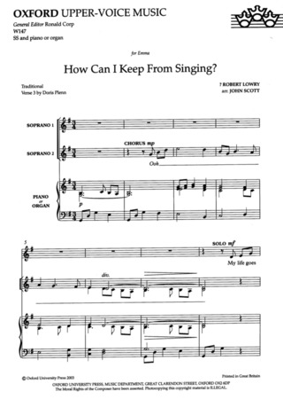 Robert Lowry et al.: How can I keep from singing?