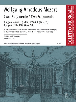 Wolfgang Amadeus Mozart: Two Fragments