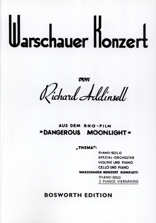 Richard Addinsell: Warsaw Concerto for piano and orchestra