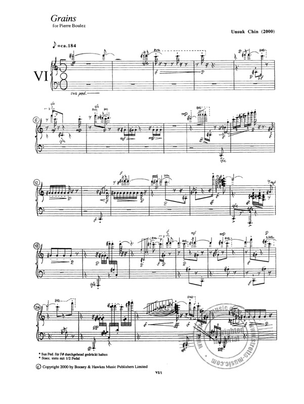 "Unsuk Chin: Piano Etude Nr. 6 ""Grains"" (1)"
