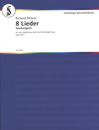 Richard Strauss: 8 Lieder op. 49/1