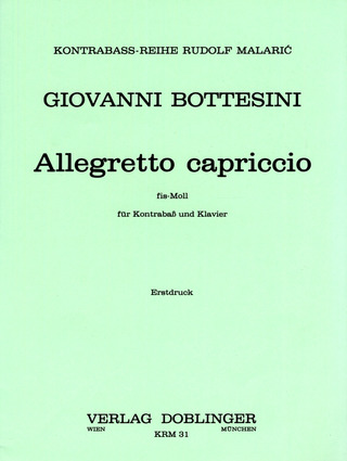 Giovanni Bottesini: Allegretto capriccio fis-moll