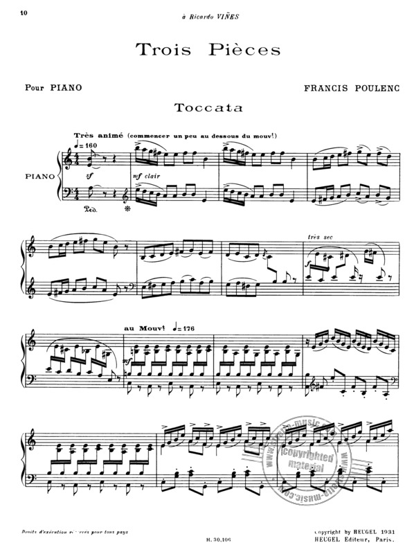 Francis Poulenc: 3 Pieces (3)