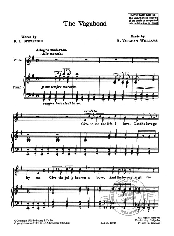 Ralph Vaughan Williams: Songs of Travel (1)