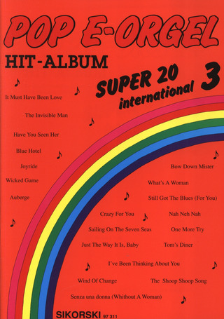 Pop E-Orgel Hit-Album Super 20: International 3