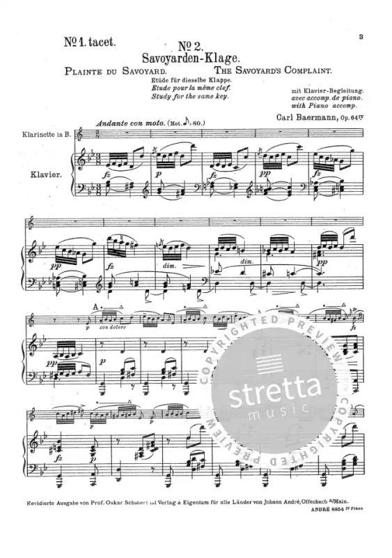 Klarinettenschule Op 64 Zweiter Teil From Carl Baermann Buy Now In Stretta Sheet Music Shop
