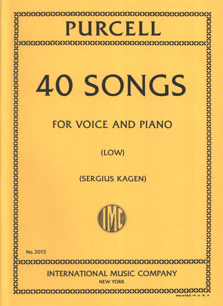Henry Purcell: 40 Songs