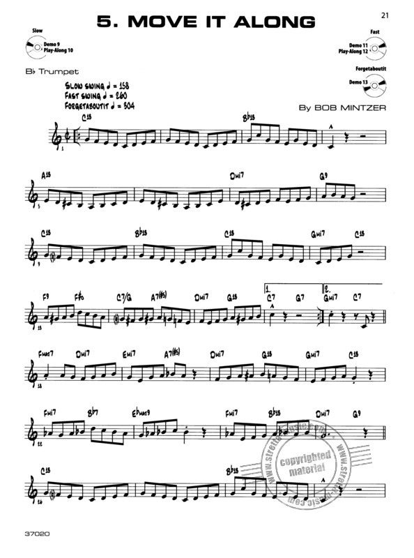 Bob Mintzer: 12 Medium easy Jazz Blues and Funk Etudes (4)