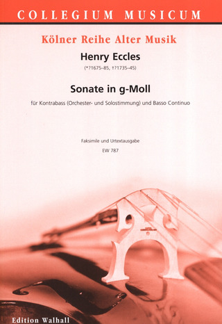 Henry Eccles: Sonate Nr. 11 g-Moll