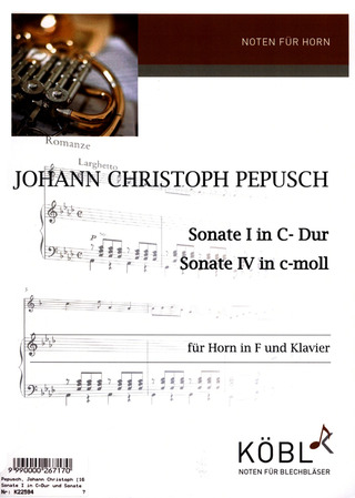 Johann Christoph Pepusch: Sonate I in C-Dur und Sonate IV in c-moll