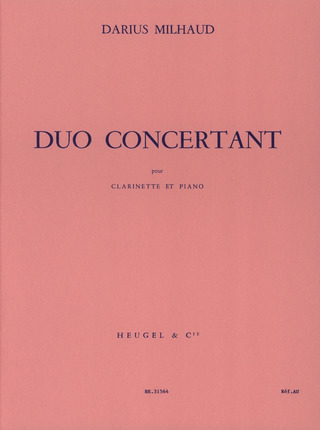 Darius Milhaud: Duo Concertant