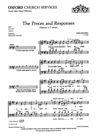 Reading, John: The Preces and Responses