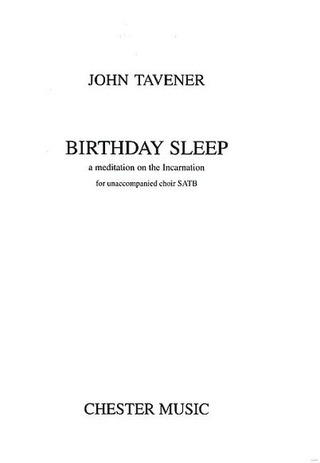 John Tavener: John Tavener Birthday Sleep Chor Book