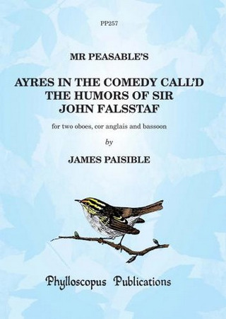 Jacques Paisible: Ayres In The Comedy Called The Humors Of Sir John Falsstaf