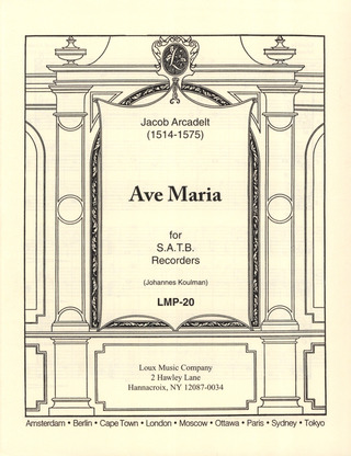 Jacob Arcadelt: Ave Maria