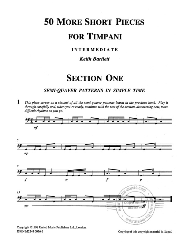 Keith Bartlett: 50 More Short Pieces For Timpani (1)