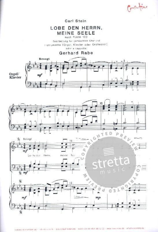 Lobe den Herrn, meine Seele von Carl Stein | im Stretta