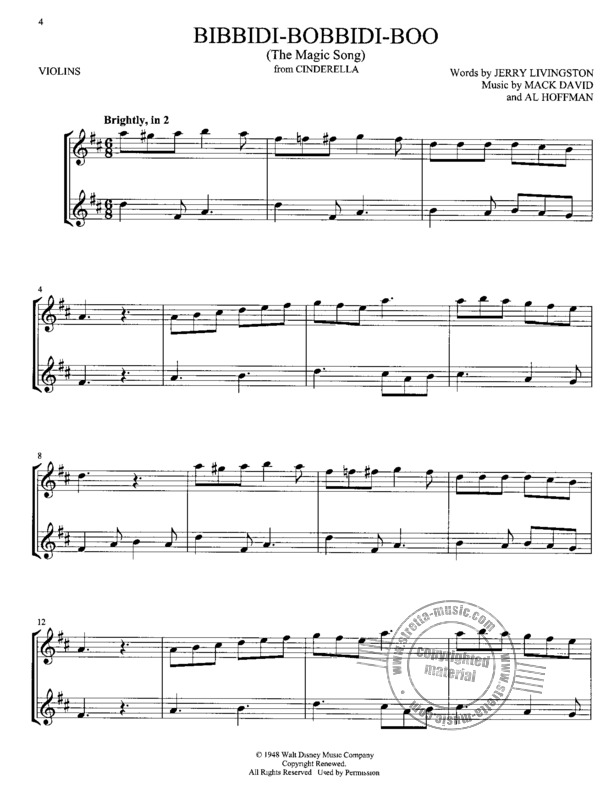 Disney Songs for Two Violins (3)