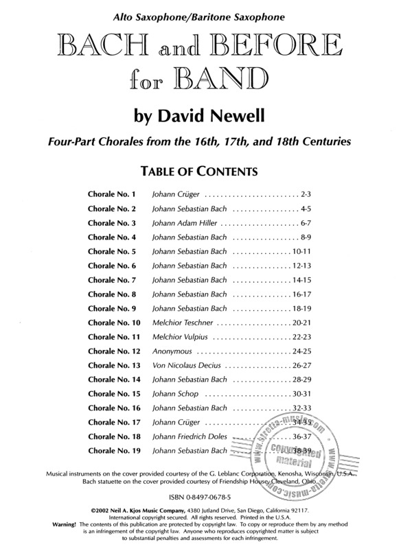 David Newell: Bach And Before For Band (1)