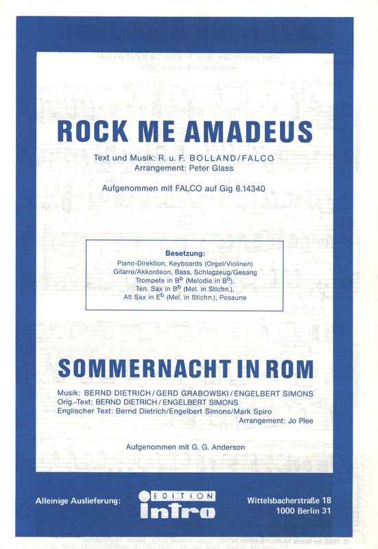 Falco: Rock me Amadeus  und Sommernacht in Rom