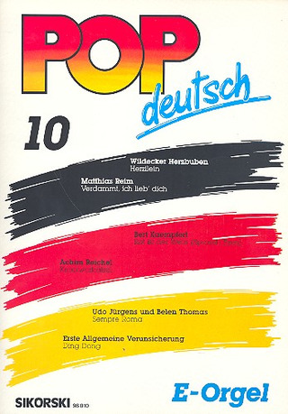 Pop deutsch E-Orgel 10