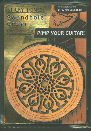 Soundhole Cover Sticky Tunes Tribal Leaves