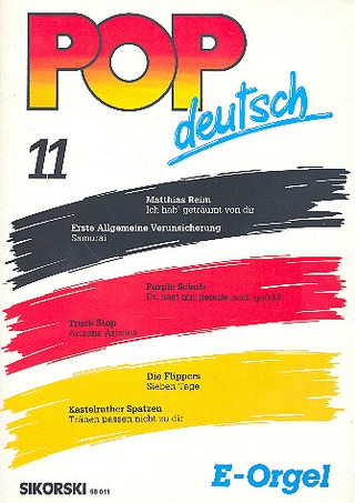 Pop deutsch E-Orgel 11