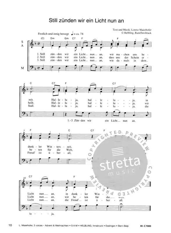 Weihnachtskekse Swing.3 Voices Advent Weihnachten Im Stretta Noten Shop Kaufen