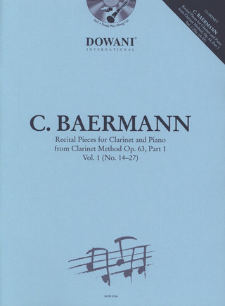 Carl Baermann: Recital Pieces for Clarinet and Piano