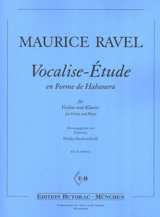 Maurice Ravel: Vocalise-Étude