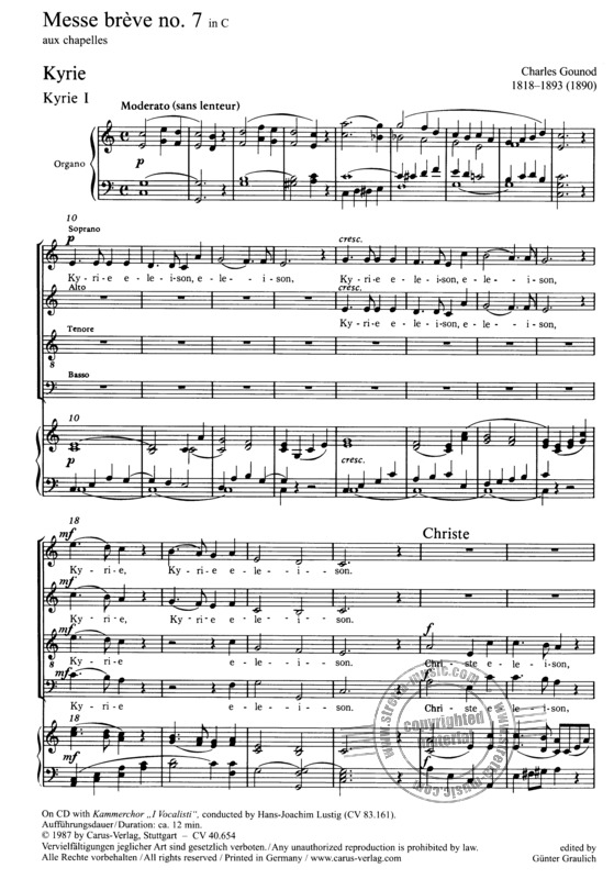Charles Gounod: Messe brève no. 7 in C (1)
