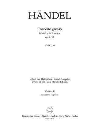 George Frideric Handel: Concerto grosso h-Moll op. 6/12 HWV 330
